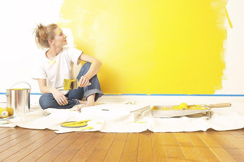 رنگ زدن دیوار
