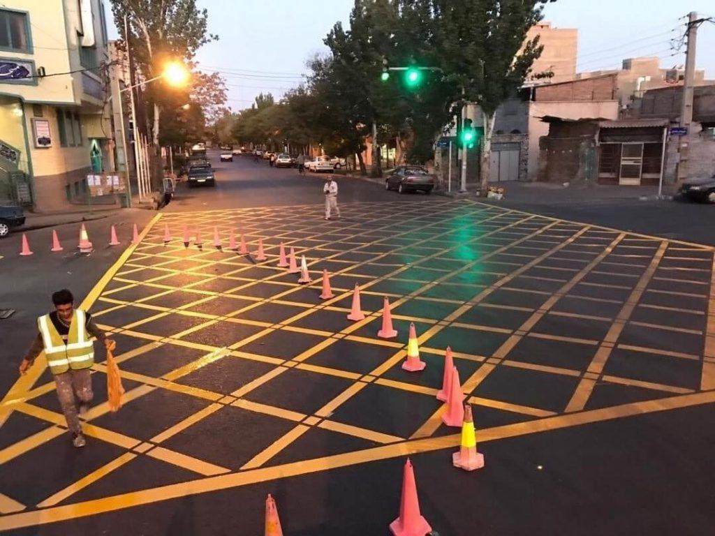 رنگ ترافیکی اجرایی توسط رنگ افروز فرنام